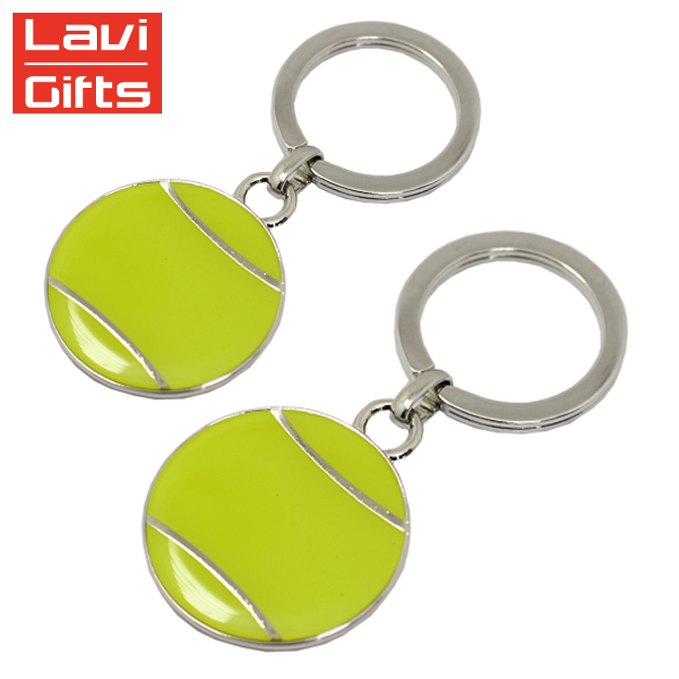 Wholesale Custom Metal Hard Enamel Table Tennis Ball Keychain