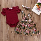 floral skirt newborn kids baby girl boutique clothing new born baby summer dress girls