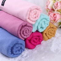 Fashion classics custom logo Soft winter unisex men women shawl Wraps solid pure Color wool pashmina imitate cashmere scarf