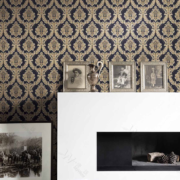 Luxury damask floral design wall paper vinyl wallpaper for home decoration