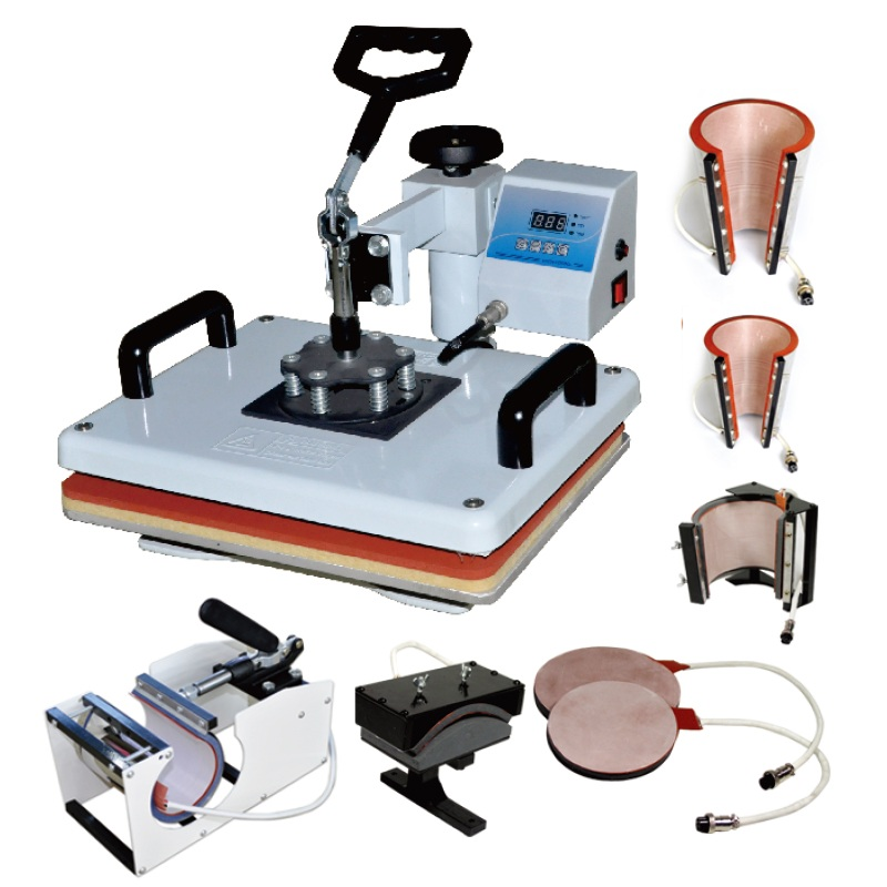 Mesin Pembuat Panas Kombo 8 Dalam 1 Cangkir Ajaib Mug Kaus Mesin Cetak Kaos Mesin Sublimasi 8 1
