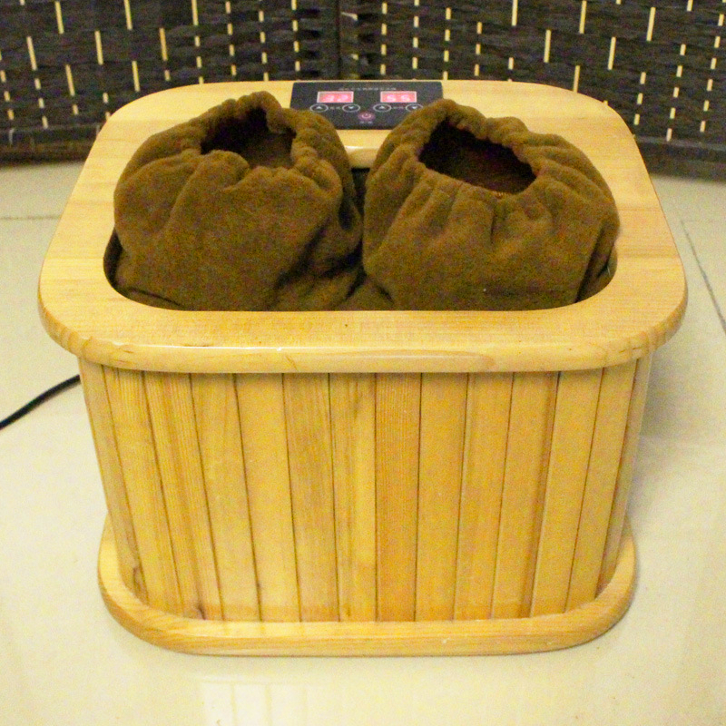 Far infrared Foot Sauna spectrum therapy barrel full automatic massage heating barrel Canadian hemlock wood