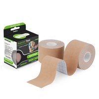Quick delivery OEM accepted medical waterproof cotton elastic athletic sports tape wholesale muscle cure aupcon kinesiology tape
