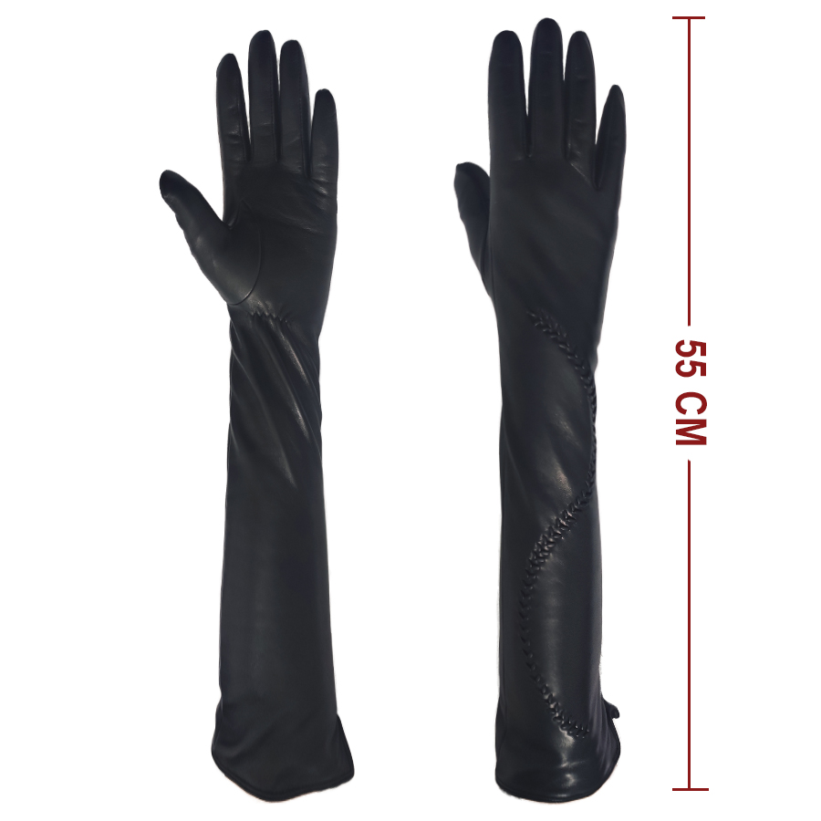 FASHION STYLE many color sheepskin long leather and gloves for women