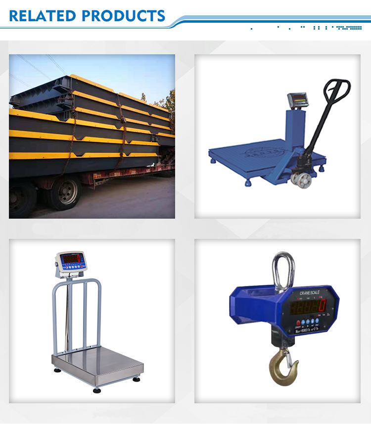 50 60 80 100 тонн Электронные мостовые весы для грузовика