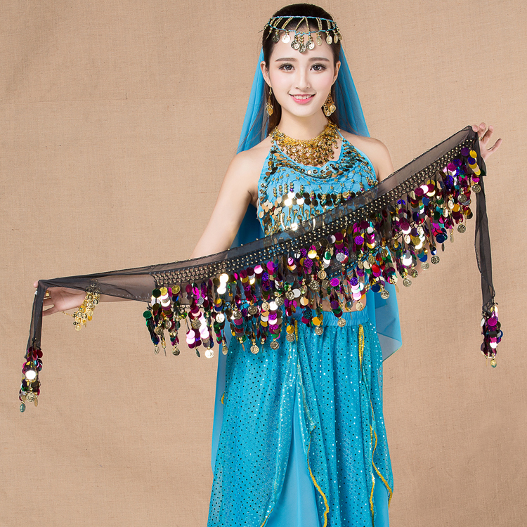 Ladies <strong>belly</strong> dancer hip scarf Egyptian <strong>belly</strong> <strong>dance</strong> sequined belt
