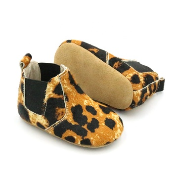 Adult fur cowboy leopard winter boys baby booties kids leather shoes boots