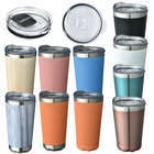 Anti-overflow vacuum stainless steel double wall coffee mug insulated tumblers with lid