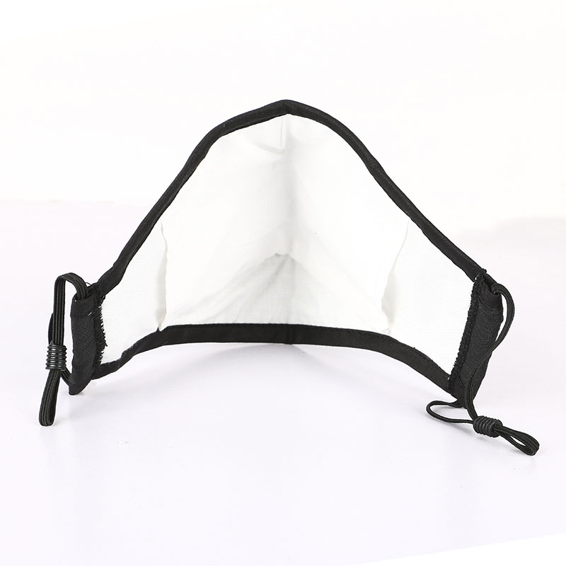 Custom printing PM2.5 3 ply washable cotton face mask safety reusable black mask 2 layers with filter pad - KingCare | KingCare.net