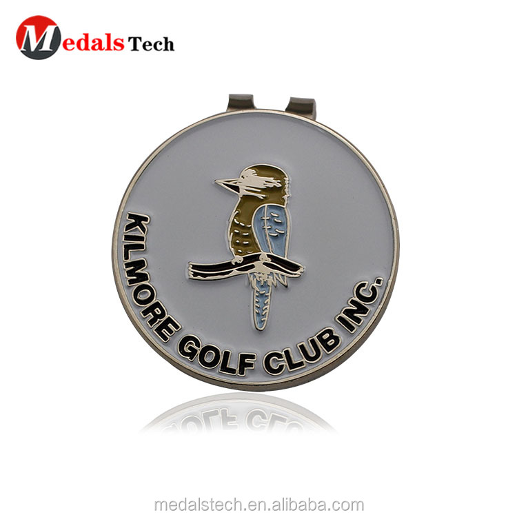 Dongguan factory direct sale 7 number antique magnetic sports golf ball marker