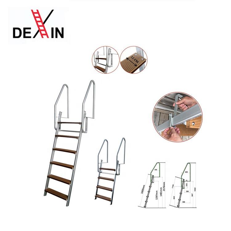 DX-B3014/ DX-B3016, 4 and 6 steps household steel swimming pool ladder steel dock ladder iron step swim ladder