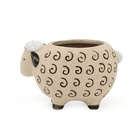 Wholesale hot sale lovely instgram 3D unique sheep flower succulent pot in pottery clay ceramic