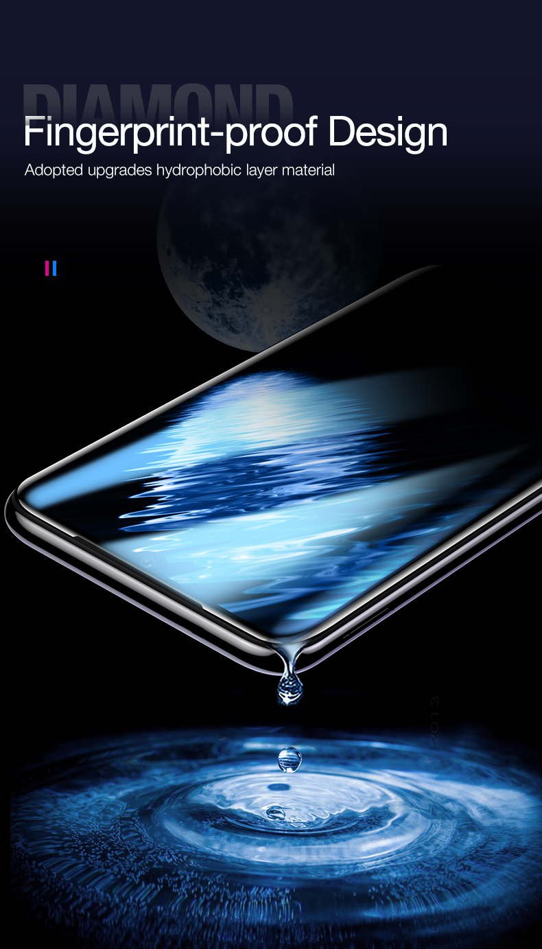CAFELE Original High Clear 9h 4D Full Coverage Mobile Phone Screen Protector Tempered Glass for Xiaomi 9 9se