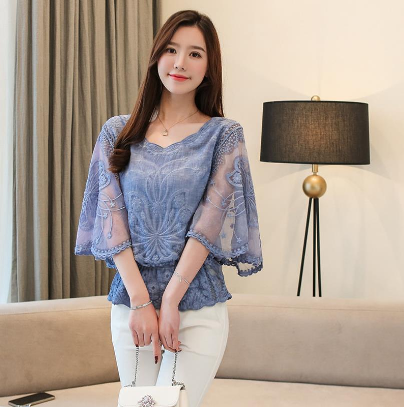 2020 Summer New Chiffon <strong>Blouse</strong> Cotton Edge <strong>Lace</strong> <strong>Blouses</strong> Shirt fashion woman <strong>blouses</strong>