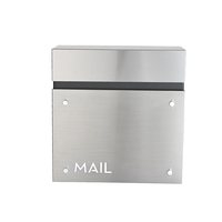 Outdoor Wall Mounted Box Powder Coated Metal Mailbox Locked Letter Box