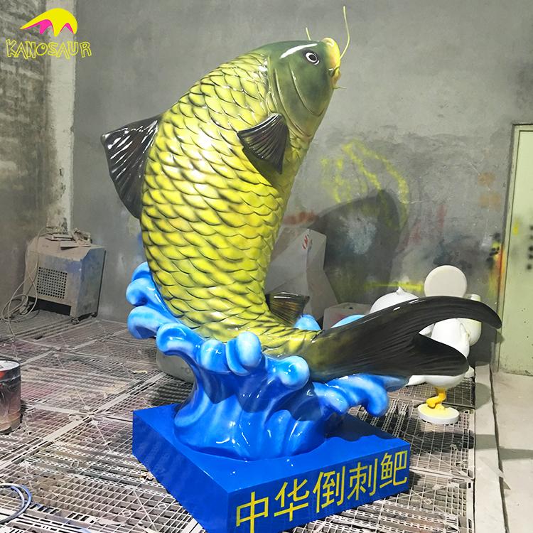 KANO1342 Personalizado Parque Temático Crianças Estátua de Pesca Ao Ar Livre