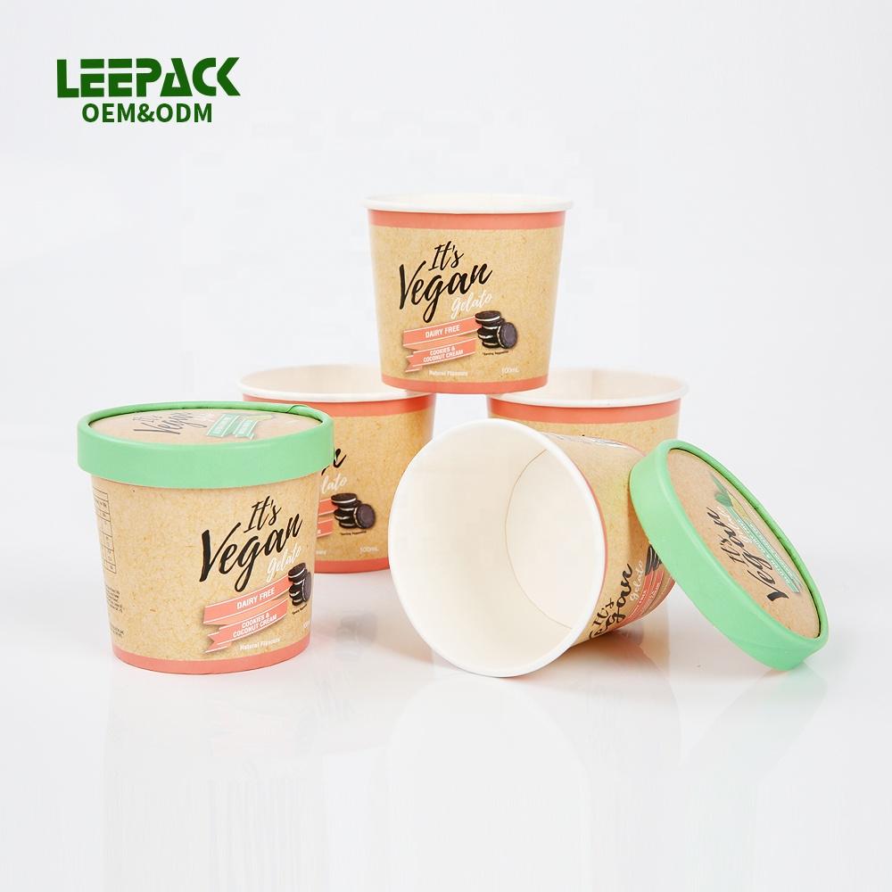 ที่กำหนดเองทิ้ง2 3 4 5 6ออนซ์ถ้วยกระดาษขนาดเล็กสำหรับไอศครีมเครื่องดื่มร้อนเย็น