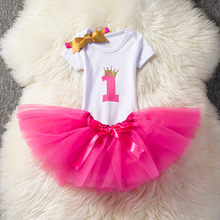Одежда для новорожденных; Платье для малышей с единорогом; Одежда для маленьких девочек на первый День рождения; Платья-пачки; Платье с прин...(Китай)