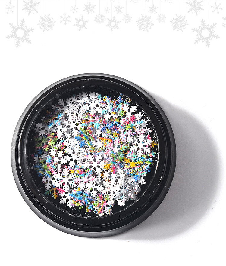 Super September Hot Selling Christmas Colorful Snowflakes Ultra-thin Nail Glitters