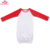 New Arrival children plain cotton clothes elastic bottom long sleeve baby raglan romper gown dresses