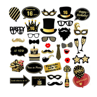 16th 21st 40th 50th Photo Booth Props Kit Photobooth Props Party Mask Favor Supplies 21st Birthday Party Decorations