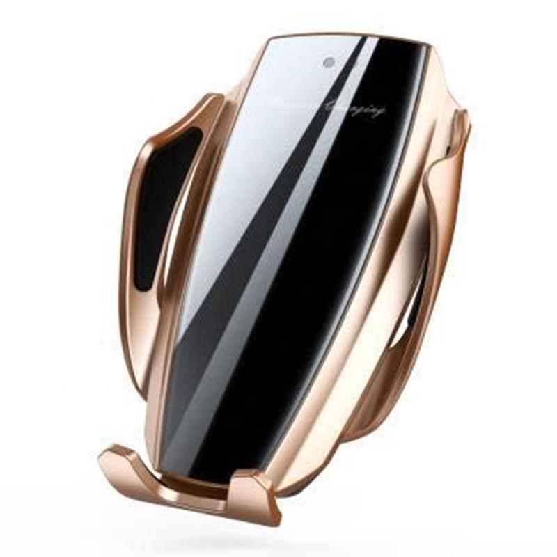 Лучшие продажи X5 смарт-датчик беспроводной автоматический Автомобильный держатель для телефона на магните для быстрой зарядки с кронштейном для автомобильного зарядного устройства для мобильного телефона