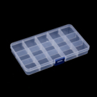 15Grids Compartment Plastic Storage Box Bead Jewelry Screw Container Case Earring Plastic Organizer Holder