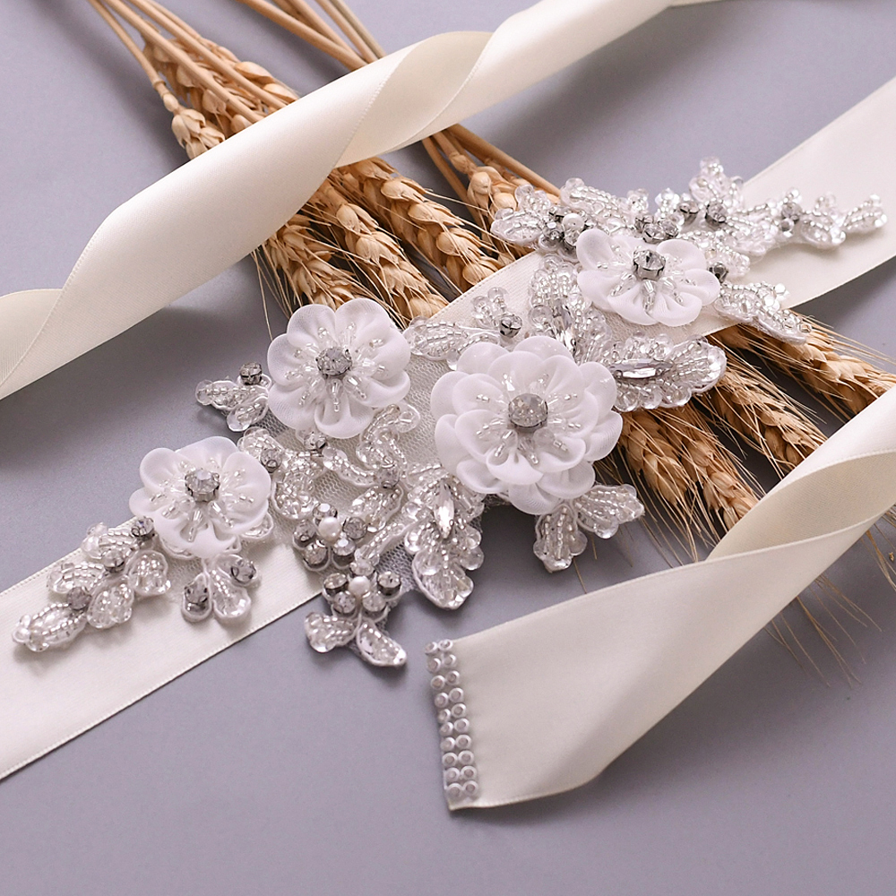 YouLaPan S358 Rhinestone Appliques Bridal Sash Belt for Dress Accessories in Wedding