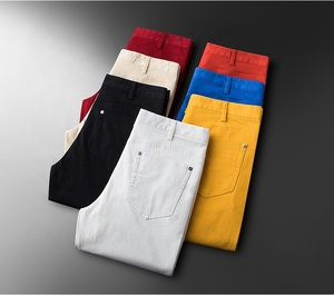Men's Summer Slim White Korean Straight Cylinder /colours jeans trousers