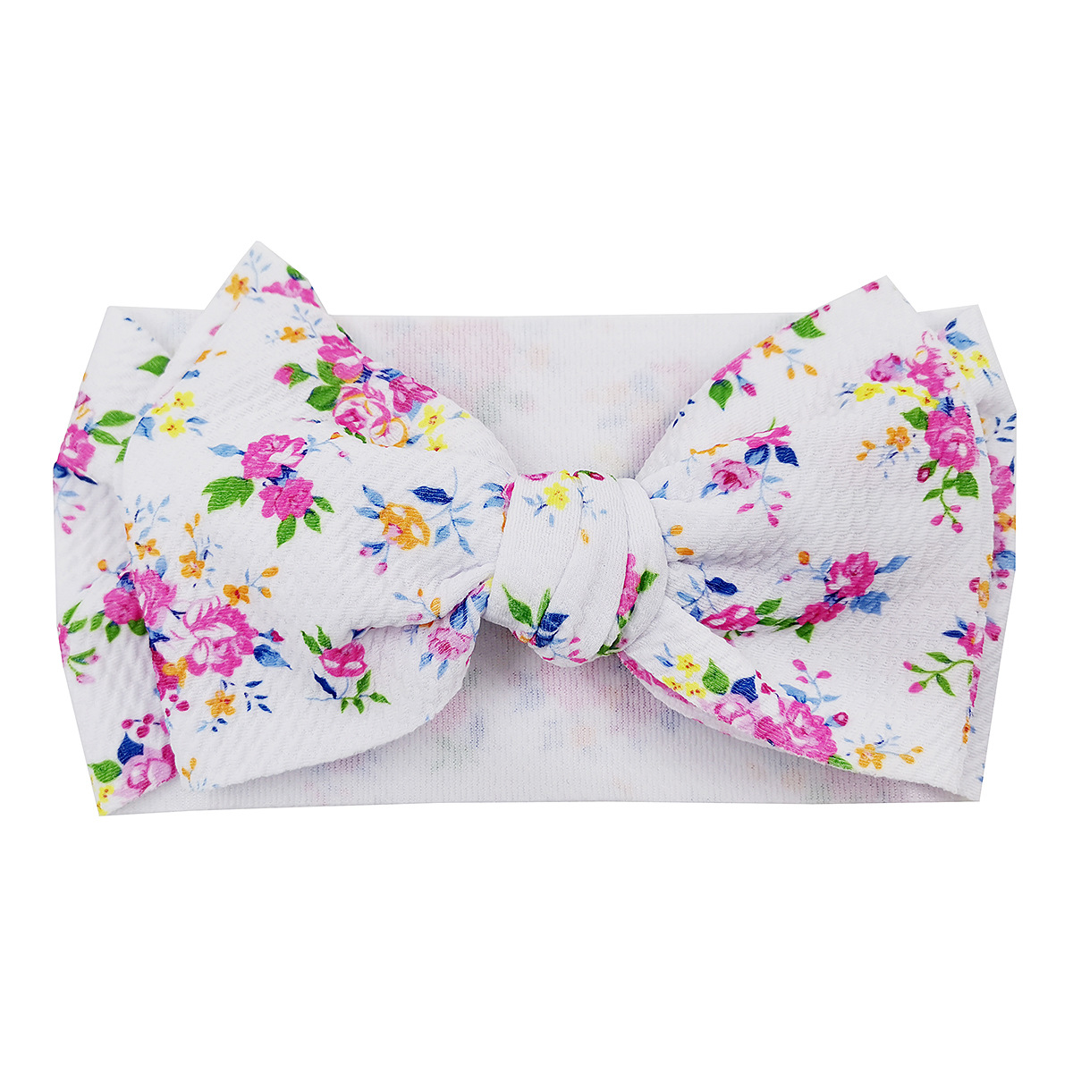 Custom Print Cute Big Bow Headbands Baby Girl Oblique Bubble Baby Bows Girls Head Band Infant Toddler Accessories Hair Band