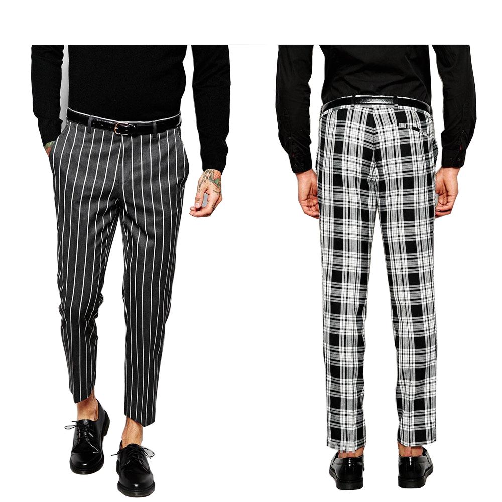Oem Pantalones Para Hombre A Cuadros Y Rayas Pantalones Ajustados De Algodon Para Hombre Buy Slim Cotton Trousers Stripe Design Pants For Men Custom Pants For Man Product On Alibaba Com