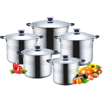 10pcs cook ware stocks Stainless Steel Stock pot cookware set