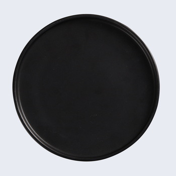 Catering Supplier Durable 8 Inch Black Plates Coffee Food Plates