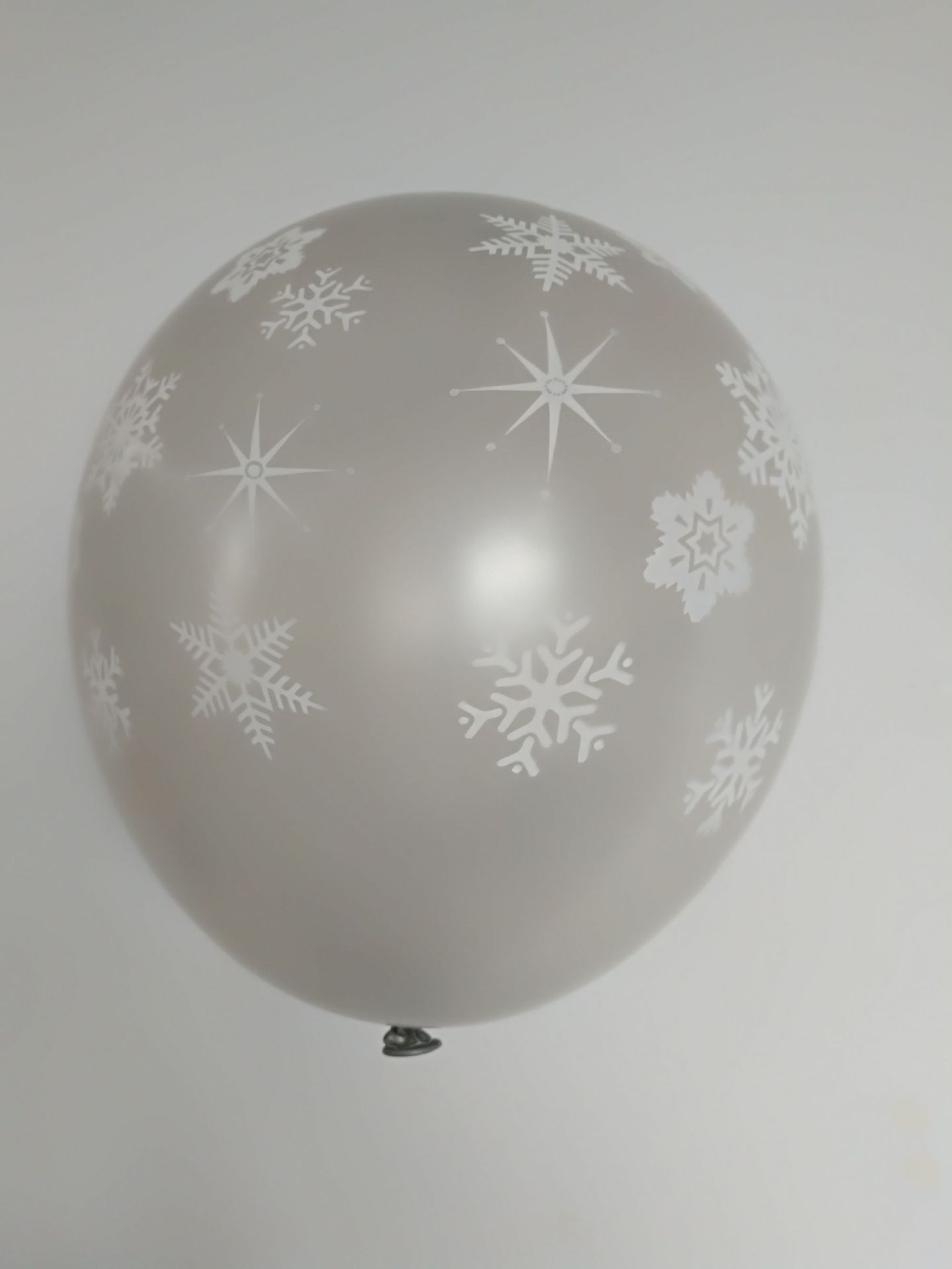 Balloon Factory 12inch Round shape Christmas Santa  printed wave point snowflake latex balloon for party supply