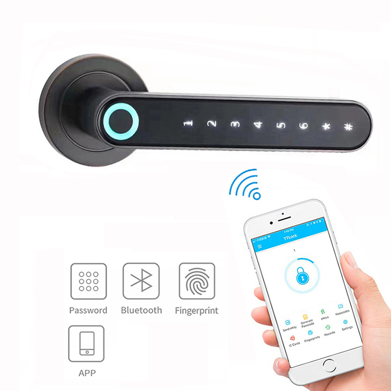 Amazon hot selling fingerprint Bluetooth APP digital password unlock function Smart Lock