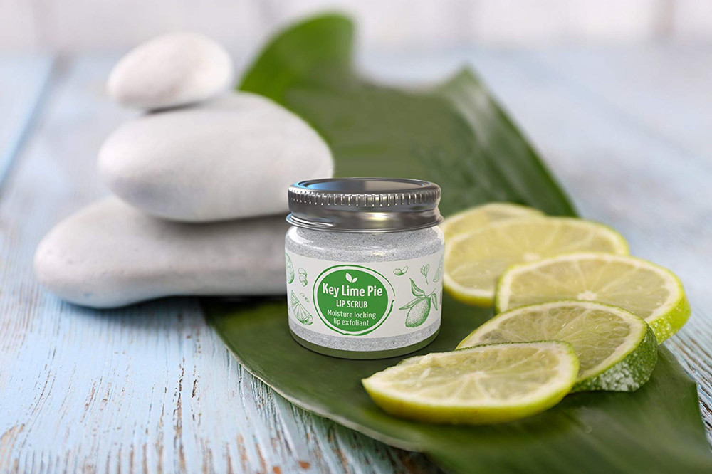 Private Label 100% Natürliche, Vegan, Eco Freundliche Key Lime Pie Lip Peeling