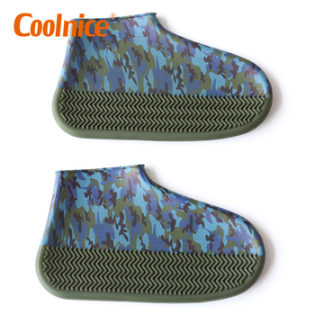Mini Colorful Rainproof Silicone Camouflage Shoe Covers for Snow Rain