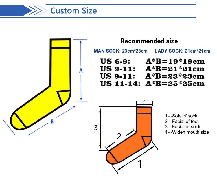 Bulk logo custom fashion 3d printing sublimation men socks wholesales