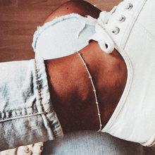 Модные богемные минималистичные браслеты с бусинами и цепочками на лодыжках для женщин и девушек, регулируемые металлические ножные брасл...(Китай)