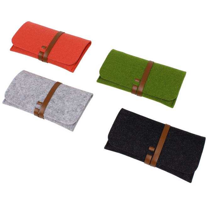 factory wholesale custom logo high quality wool felt cloth <strong>cell</strong> <strong>phone</strong> <strong>pocket</strong>