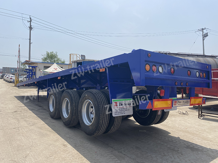 Chinese Second Hand  3Axles 60Tons Used Flatbed Trailer