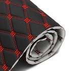 Abrasion-resistant 1.8m Width Quilted Pvc Synthetic Leather With Sponge Xpe Foam For Car Seat Cover Usage
