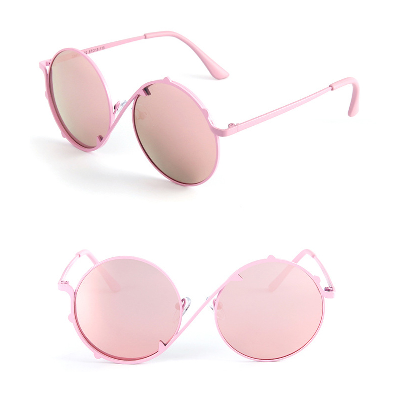 Wholesale <strong>Custom</strong> Logo Cartoon Polarized <strong>Shades</strong> Round Cute Kids Girls Sunglasses