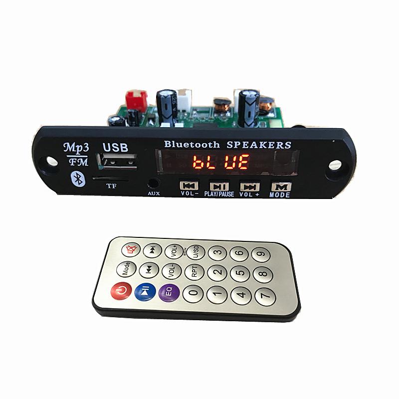 JK6838BT FM radio Bluetooth MP3 decoder board audio decoder module with  Amplifier 10W x2 channels