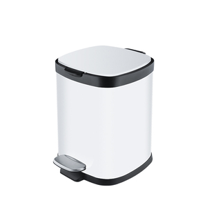 White 6L 12L 20L 30L pedal kitchen trash can metal stainless steel bathroom trash can hotel recycle trash can