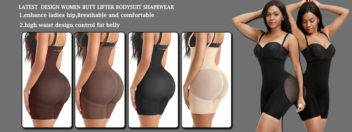 Seamless 4 Color Compression High Waist Tummy Control Enhance Hip Shaper Butt Lifter Shapewear For Women