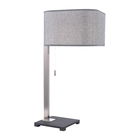 Modern Stainless Steel Unique Fabric Shade Nickel Restaurant Desk Lamp Nordic Table Lamp