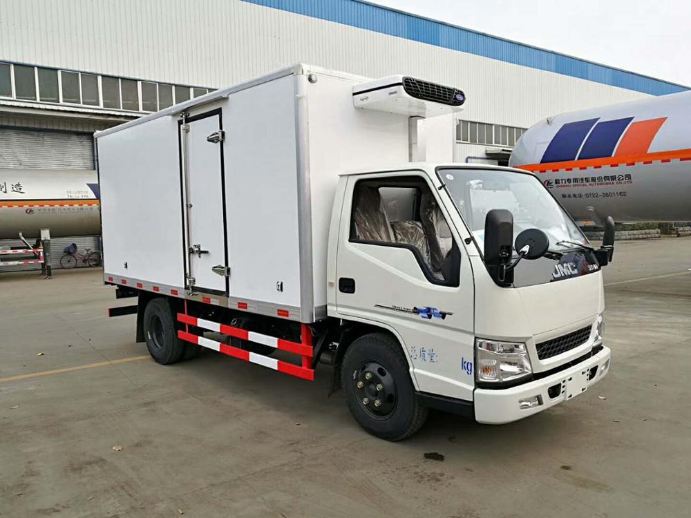 Brand New 4*2 Jmc Refrigeration Unit 5 Ton Delivery Van