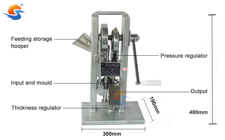 TDP-0T manual sugar candy powder press making machine