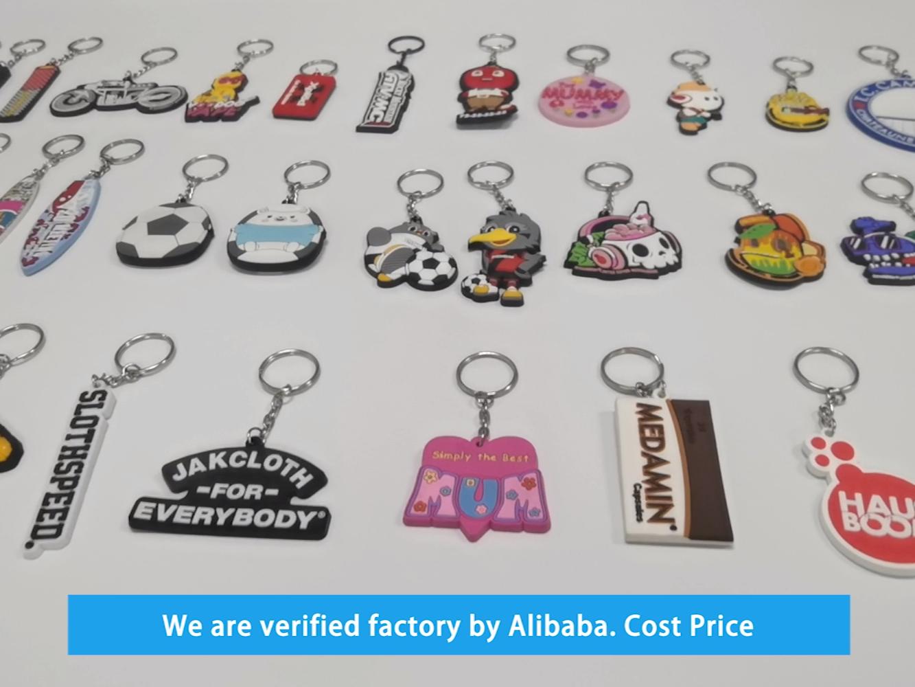 Custom Shape Metal Souvenir Double Printed UAE Keychain For Promotion